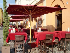 Зонт для кафе Одесса крассный